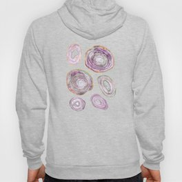 Agate Slices Rose and Teal Palette Hoody