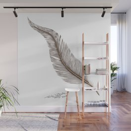 Magical feathers the dressing up or making wishes come true. Wall Mural