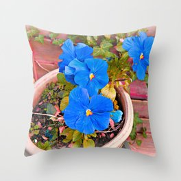 Little Blue Eyes. Throw Pillow