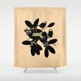 Massachusetts - State Papercut Print Shower Curtain
