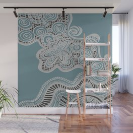 Just a Squiggle Here and There Wall Mural