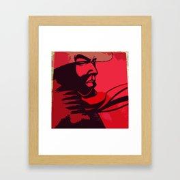 JIBARO SAMURAI RED Framed Art Print