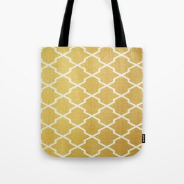 Gold Pattern Tote Bag