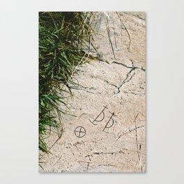 Archaic Writing Canvas Print