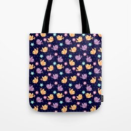 Freely Birds Flying - Fly Away Version 2 - Night Color Tote Bag