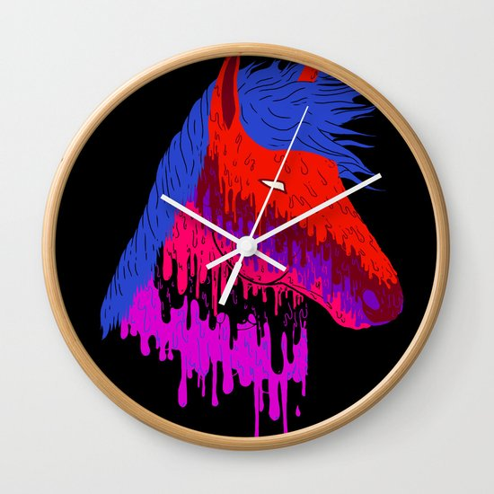 The Psychedelic Melt Wall Clock