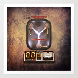 Flux Capacitor Machine Art Print