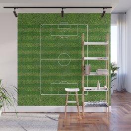 Soccer (Football) Field  on the grass Wall Mural