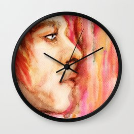 The Man Who Sold the World, Bowie portrait by Ines Zgonc Wall Clock