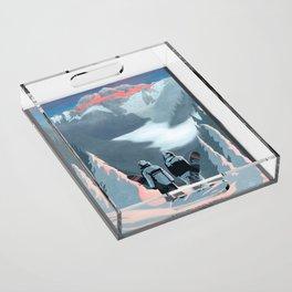 Snow Board Therapy Acrylic Tray