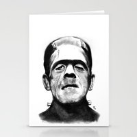 frankenstein Stationery Cards featuring Frankenstein by Zombie Rust