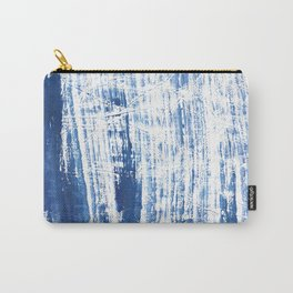 Steel blue streaked watercolor pattern Carry-All Pouch