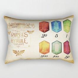 Legend of Zelda - The Rupees of Hyrule Kingdom Guide Rectangular Pillow