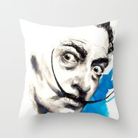 dali Throw Pillows featuring Dali by Mitja Bokun
