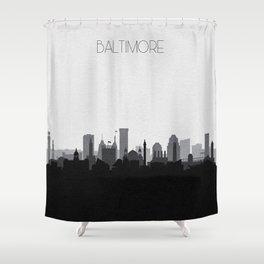 City Skylines: Baltimore (Alternative) Shower Curtain