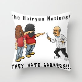 The Hairyan Nations Throw Pillow