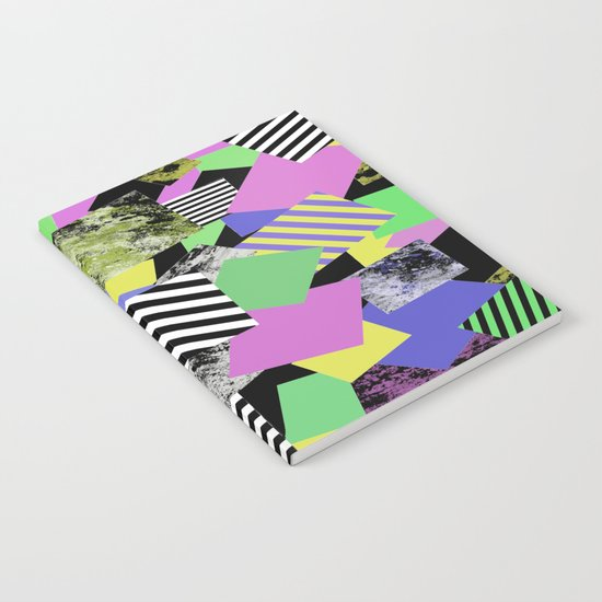 Crazy Squares - Abstract, Geometric Pop Art Notebook