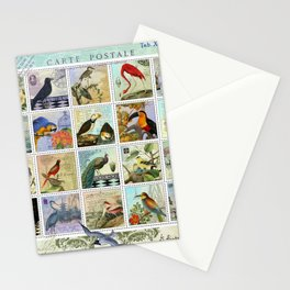 Birds of a Feather Postal Collage Stationery Cards
