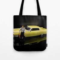 reservoir dogs Tote Bags featuring Reservoir Dogs 1965 Cadillac Coupe De Ville by Ewan Arnolda