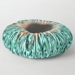 The Blue-Green Iris Floor Pillow