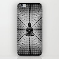 buddah iPhone & iPod Skins featuring Spacial Energy Buddah Mesh by Federico Sananes