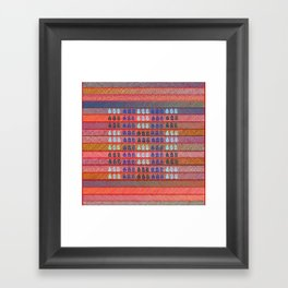 Leaves pattern Framed Art Print