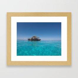 The middle of the ocean Framed Art Print