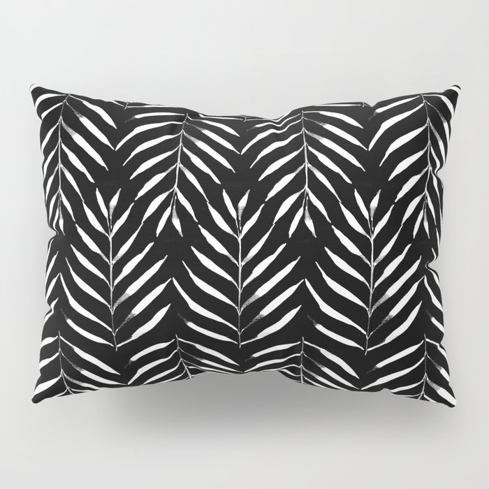 Black and white Palms Pillow Sham