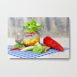 Lunch in a glass Metal Print