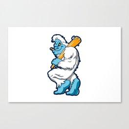 Baseball sasquatch Canvas Print