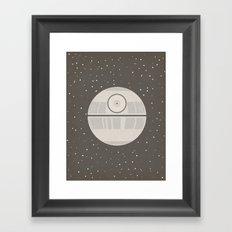 Death Star DS-1 Orbital Battle Station Framed Art Print
