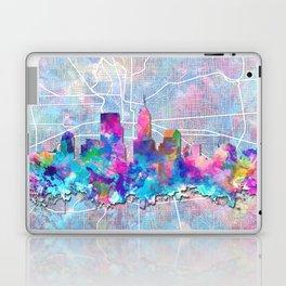 indianapolis city skyline watercolor 2 Laptop & iPad Skin