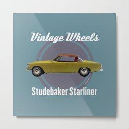 Vintage Wheels - Studebaker Starliner Metal Print