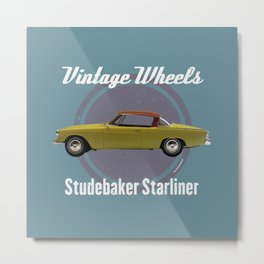 Vintage Wheels - Studebaker Starliner Metal Print