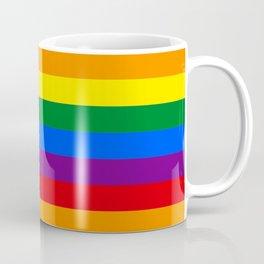 Rainbow USA stars and lgbt stripes gay pride season  Coffee Mug