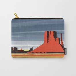 Monument Valley sunset magic realisim Carry-All Pouch