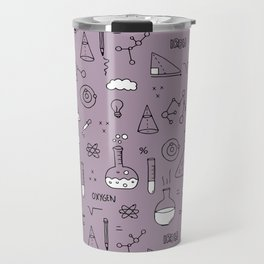 Back to school science physics math class student laboratorium mauve purple Travel Mug