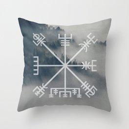 Vegvisir | Forest background Throw Pillow