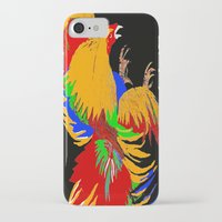 cock iPhone & iPod Cases featuring Cock Fight by Saundra Myles