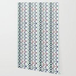 Ethnic ikat pattern. Wallpaper