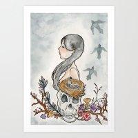 Sorrow Fall Art Print