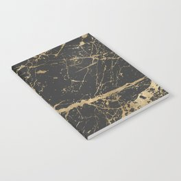 Marble Black Gold - Whistle Notebook