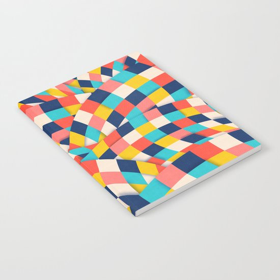 Curved Squares Notebook