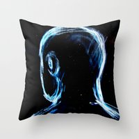 depression Throw Pillows featuring Depression by Brandon Lynch