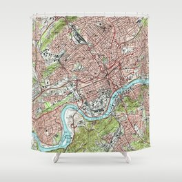 Knoxville Tennessee Map (1978) Shower Curtain