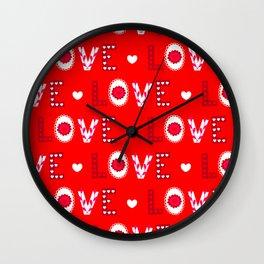Valentine's Day Love and Joy Wall Clock