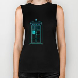 Tardis With The Twelfth Doctor Biker Tank