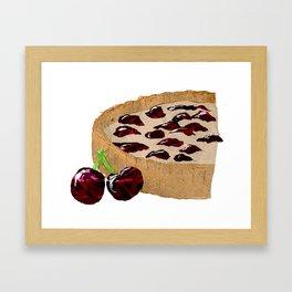 Cherry Tart Framed Art Print