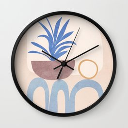 Little Hause Pot Plant Wall Clock
