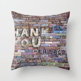 Thank you | Noriko Aizawa Buckles Throw Pillow